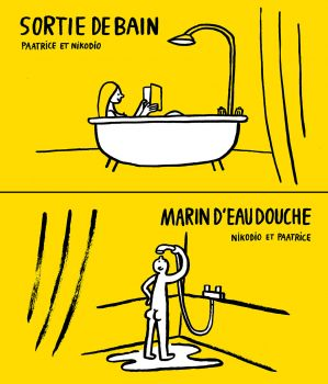 Sortie de bain / Marin d'eau douche