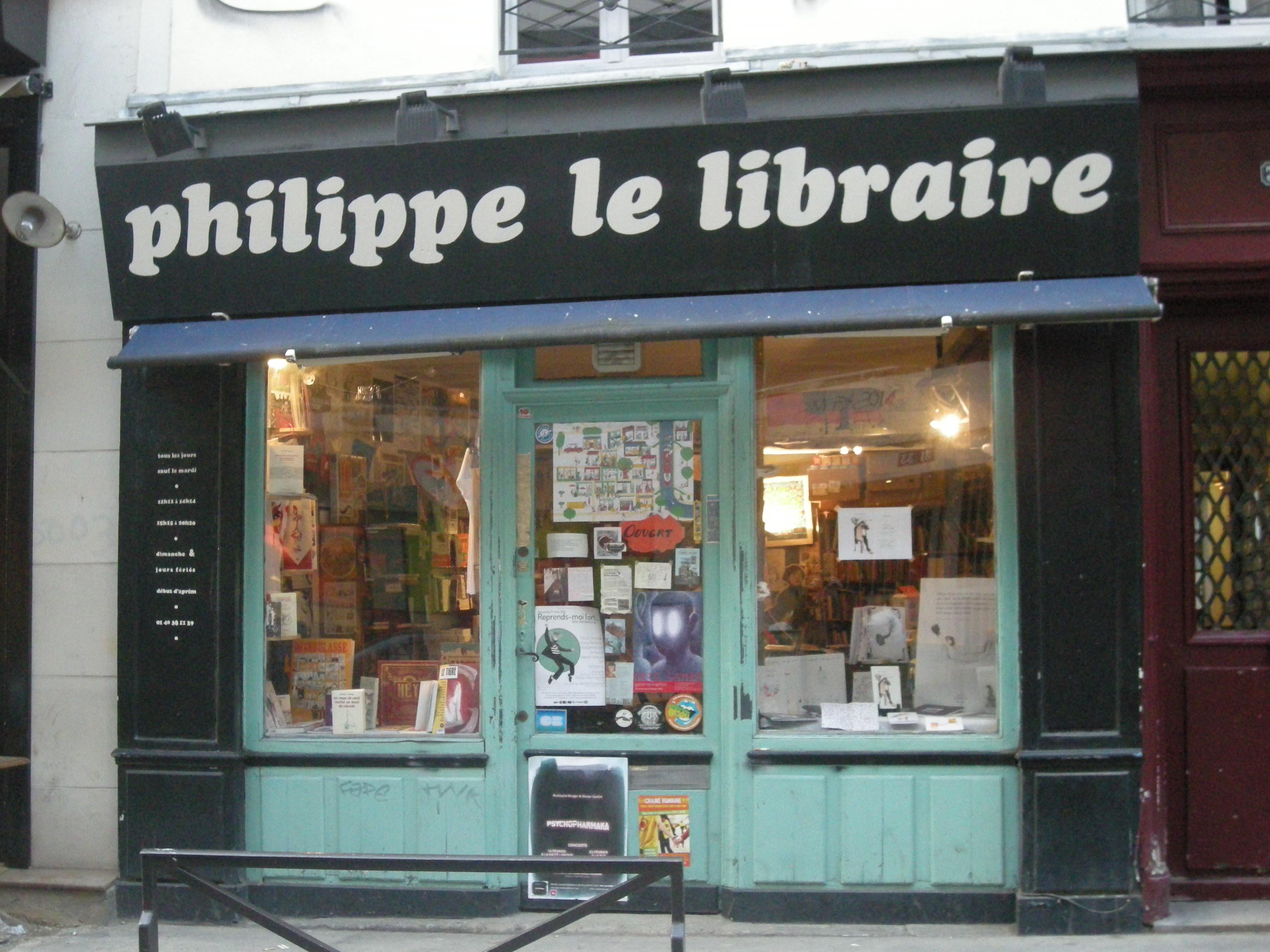 Otto T. et Benoit Vidal chez Philippe le libraire (Paris) le 26novembre