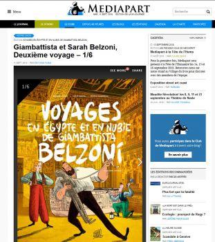 Le deuxième des Voyages en Egypte de Belzoni est en librairies, la publication sur Médiapart se poursuit!